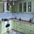 Оливковая кухня в стиле прованс 1900 х 2300